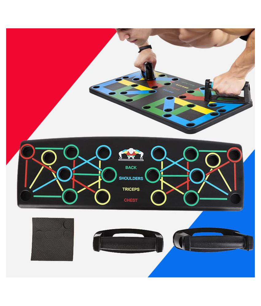 push-Up Board, 9 in 1 Body Building Push Up Rack Board Push-Up Support Male Fitness Equipment Home Practice Chest Muscle Arm Muscle Multi-Function Push-Ups Board,Carbon Fiber