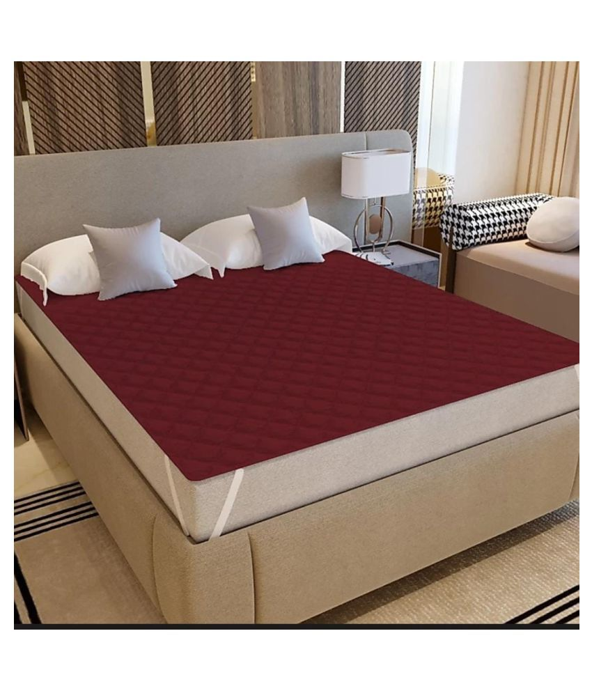 Koli collections 005 Red Poly Cotton Mattress Protector