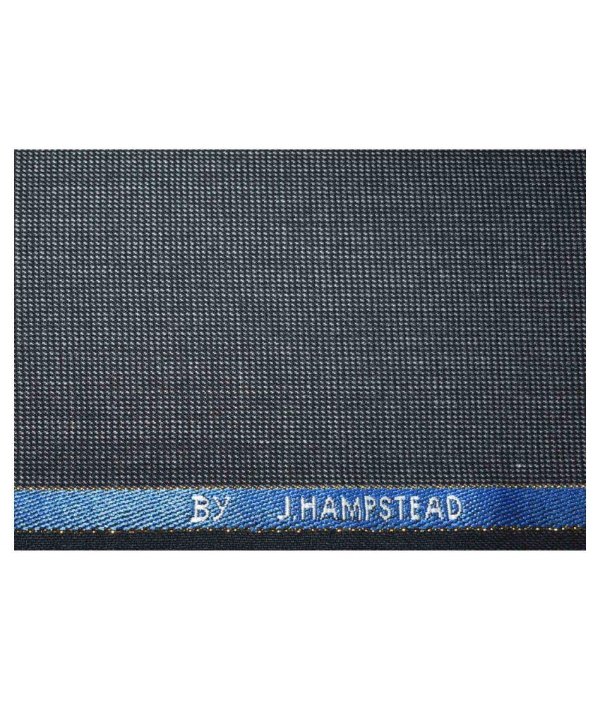 J Hampstead Black Woollen Unstitched Pant Pc