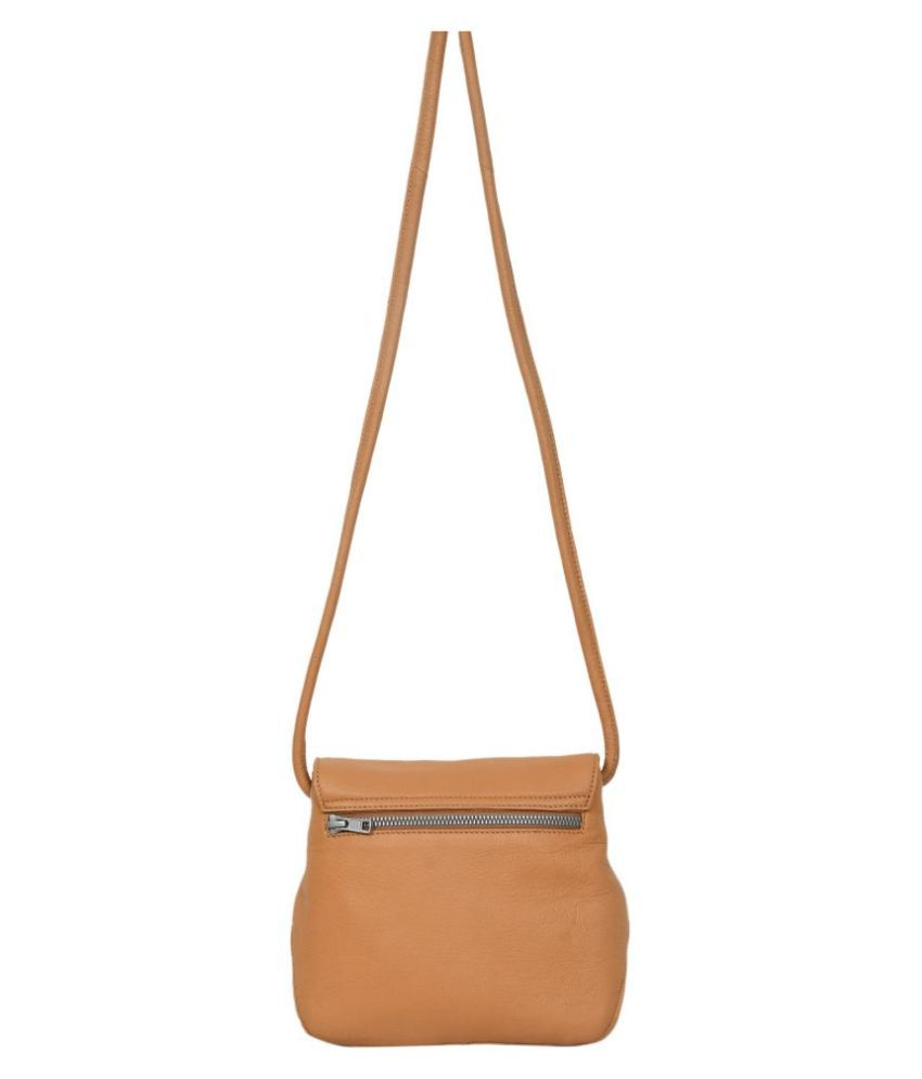 NOW COLLECTION Beige Leather College Bag