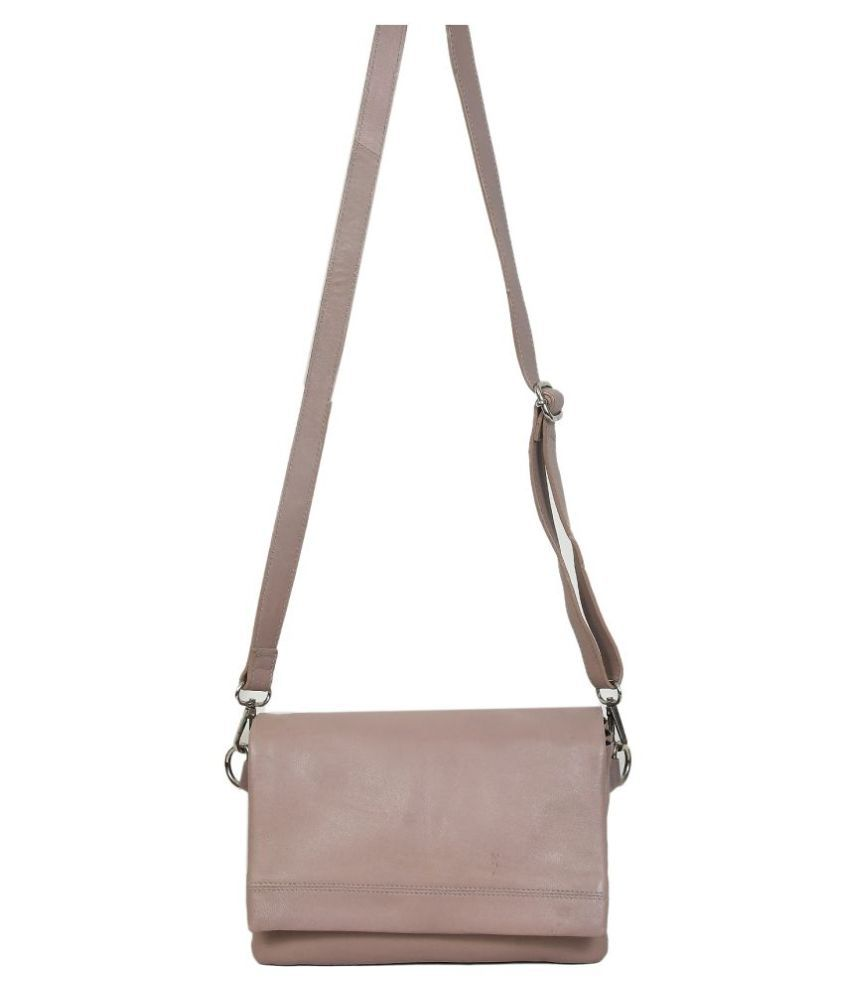 NOW COLLECTION Pink Leather College Bag