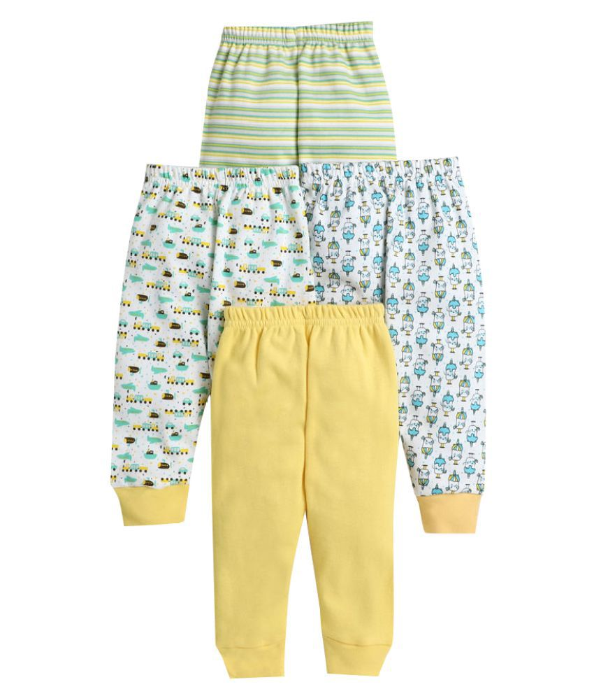 Hopscotch Baby Boy Cotton All Over Printed Pants Pack Of 4 in  Color For Ages 6-12 Months (BUV-3691671)