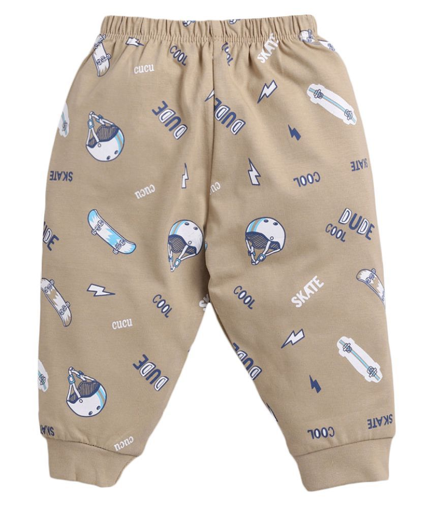 Hopscotch Baby Boy Cotton All Over Printed Jogger in  Color For Ages 3-6 Months (CUM-3239867)