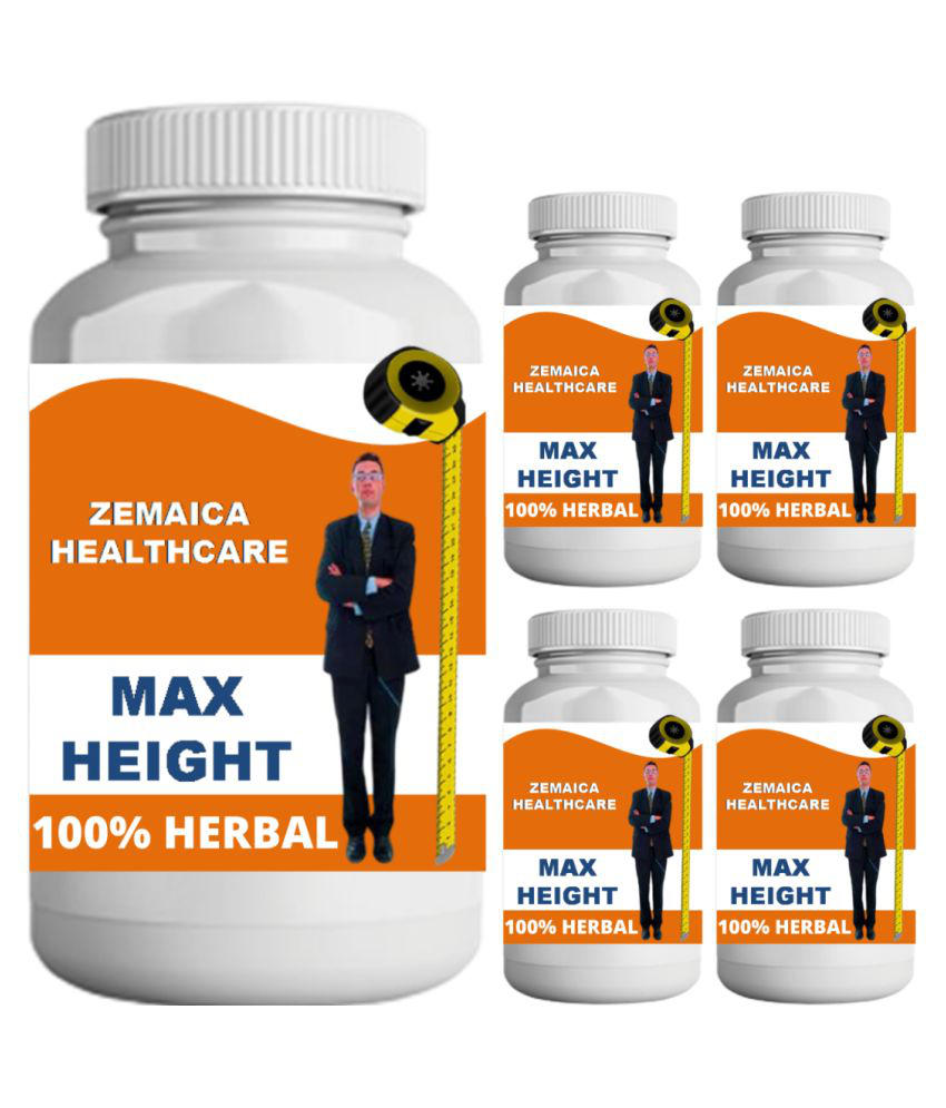 Zemaica Healthcare max height vanilla flavor 0.5 kg Powder Pack of 5