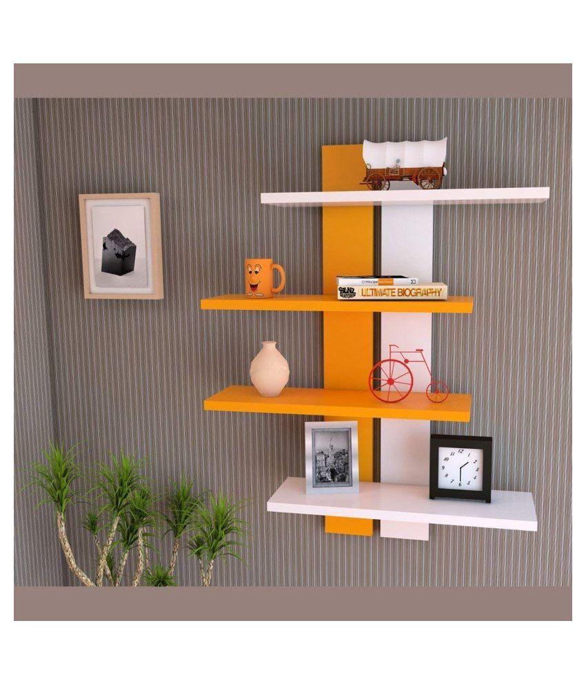 Clover Crafts Floating Shelves Multicolour MDF - Pack of 2