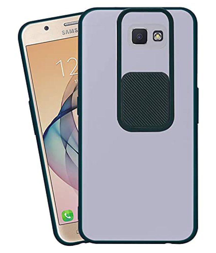 Samsung Galaxy J7 Prime Hybrid Covers Shining Stars   Green Hybrid Shutter Back Cover