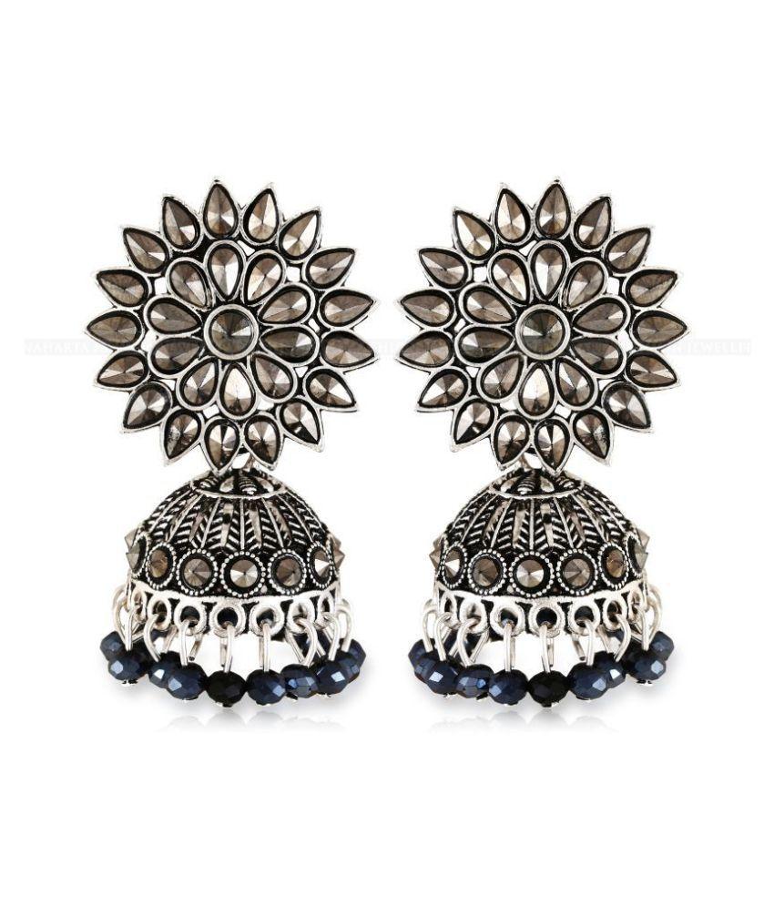 Vighnaharta Oxidised SilverGerman Shimmering Charming bollywood Earring for Women and Girls VFJ1293ERG