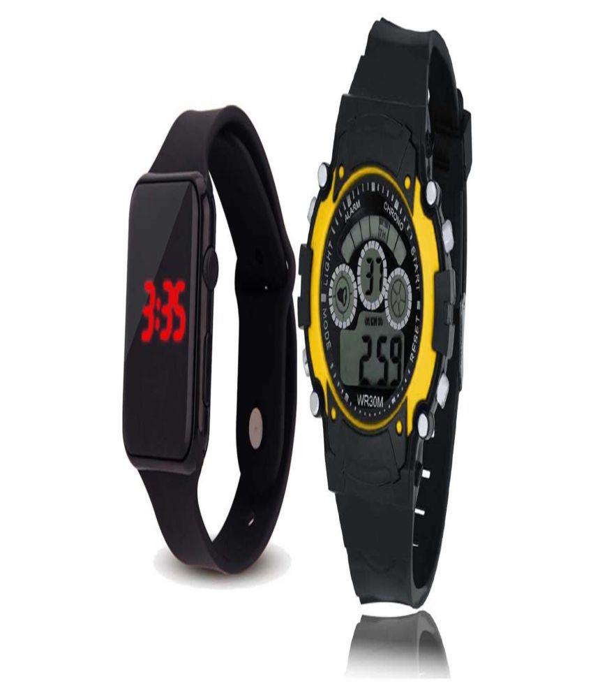 * Susha Stylish wrist watch , white square digital LED fashion watch for girls  amp; boys