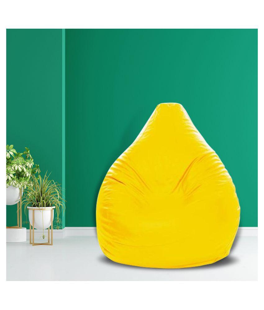 SHIRA 24 XXL Teardrop Bean Bag Cover  Without Beans   Yellow