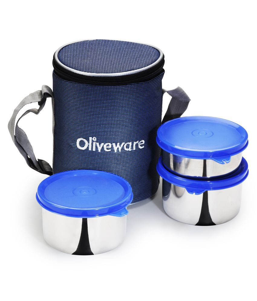 Sopl-Oliveware Blue Stainless Steel Lunch Box