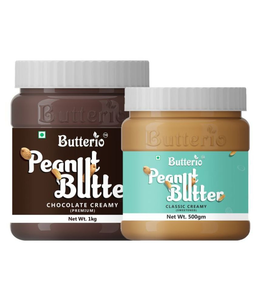 BUTTERIO FOOD & BEVERAGES Chocolate Butter Creamy 1 kg Pack of 2