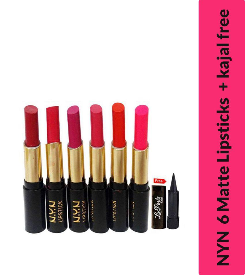 Lenon NYN Lipstick ( Free Black Kajal ) Multi Pack of 7 10 g