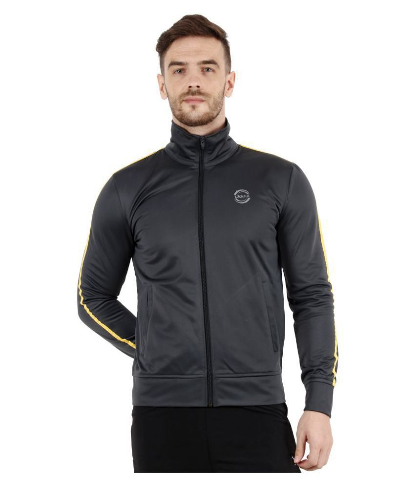 WAAW Grey Polyester Jacket Single Pack