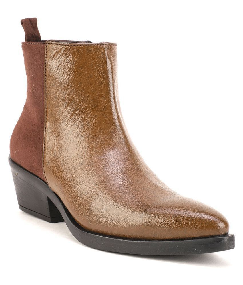 Bruno Manetti Brown Ankle Length Bootie Boots