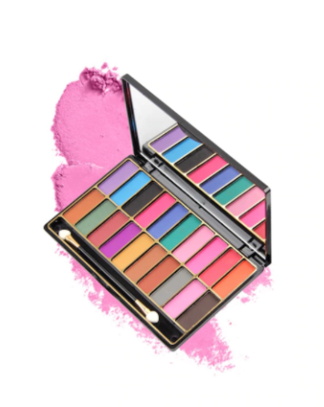 Miss Rose 3D 20 COLOR SHINY WET EYE SHADOW  (4 SHADES) Eye Palette Cream-to-powder Colours 10 g