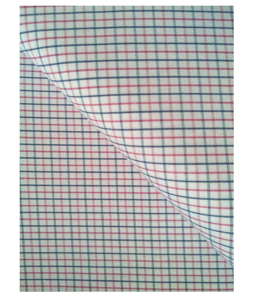 Makhanchor White 100 Percent Cotton Unstitched Shirt pc