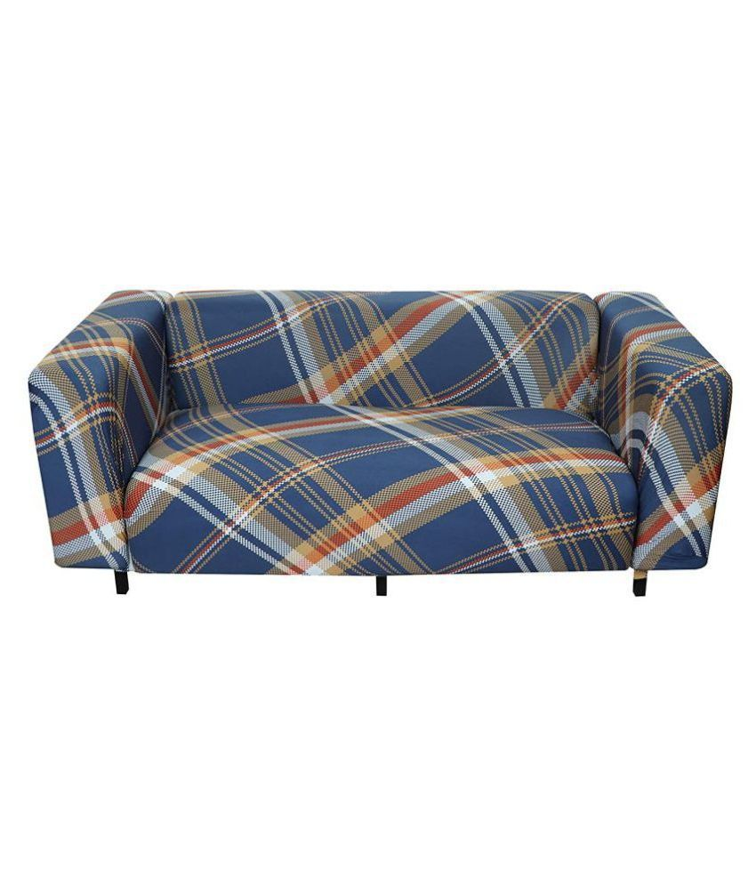 House Of Quirk 5 Seater Blue Polyester Single Back Cover