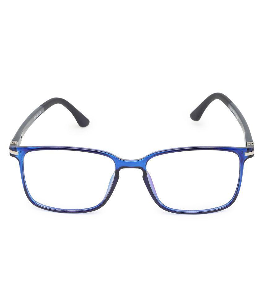 Unisex Blue Cut & Anti-glare Computer Glasses   For Computer Mobile TV   Eye Protection   Zero Power   Brand - Vast